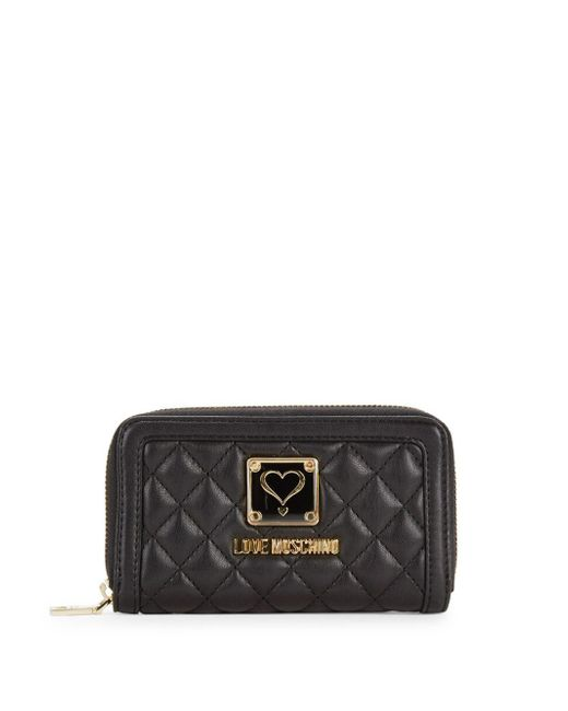 Love Moschino - Black Quilted Clutch - Lyst