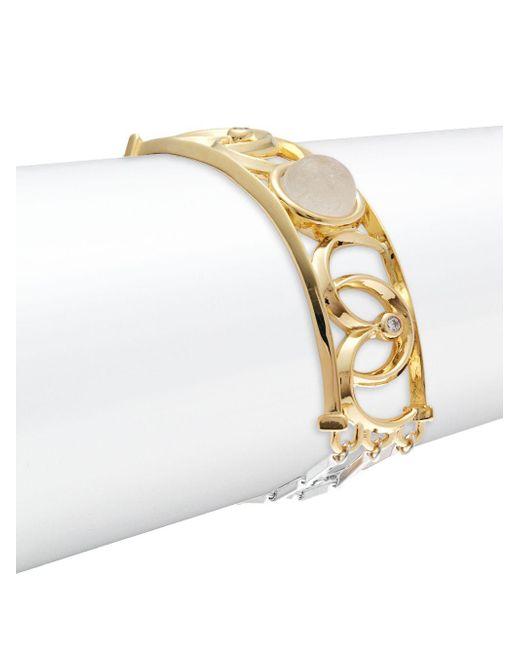 Eddie Borgo - Metallic Sibyl 12k Gold-plated Bracelet - Lyst