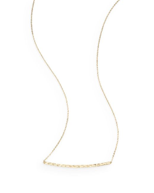 Saks Fifth Avenue | Metallic 14k Yellow Gold Hammered Bar Pendant Necklace | Lyst