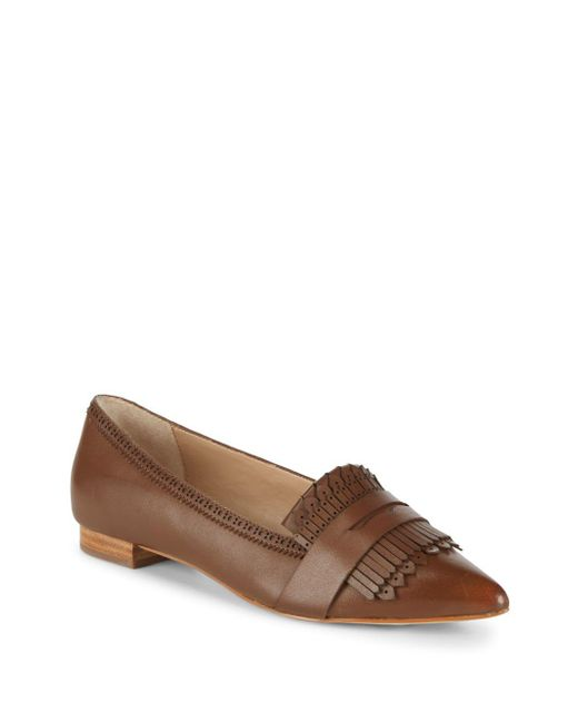 Saks Fifth Avenue - Brown Kayla Fringed Leather Loafers - Lyst