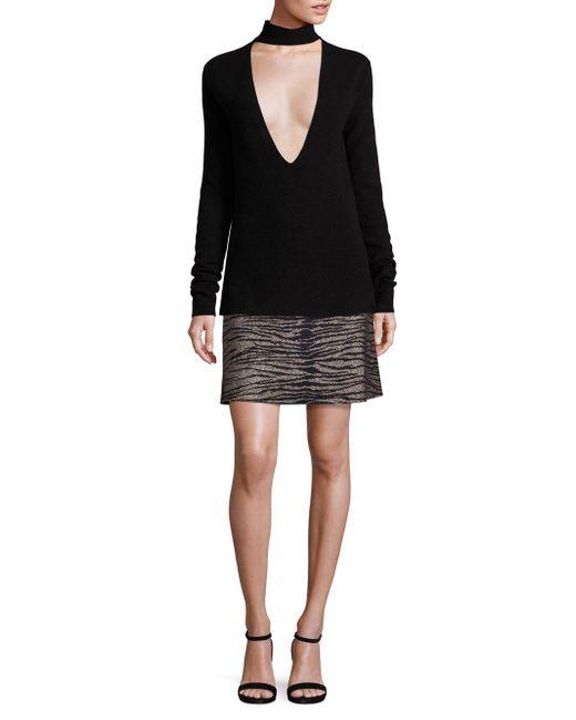 A.L.C. - Black Alonso Mettiger-print Skirt - Lyst