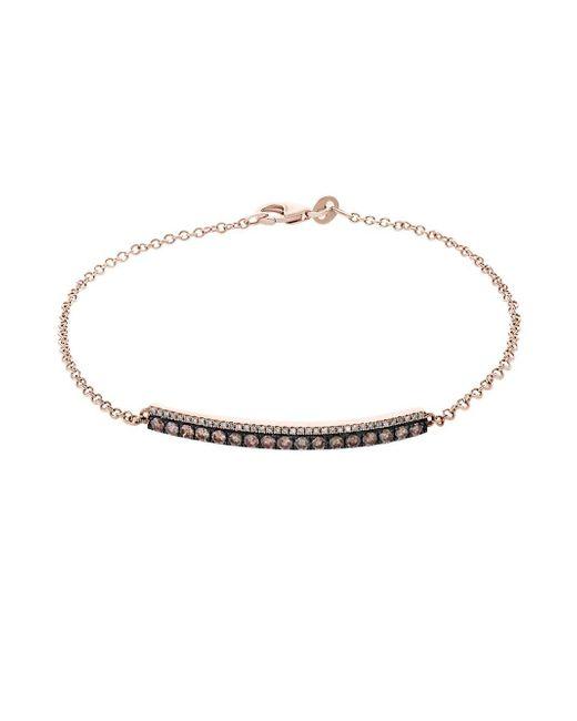 Effy - Metallic 14k Rose Gold & Diamond Bracelet - Lyst