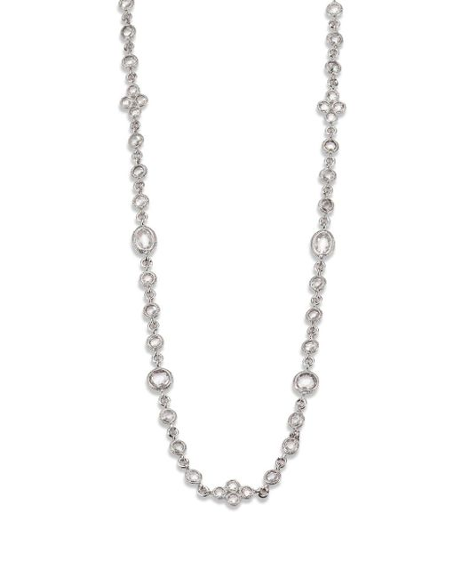 Adriana Orsini - Metallic Faceted Double Wrap Necklace/rhodium-plated - Lyst