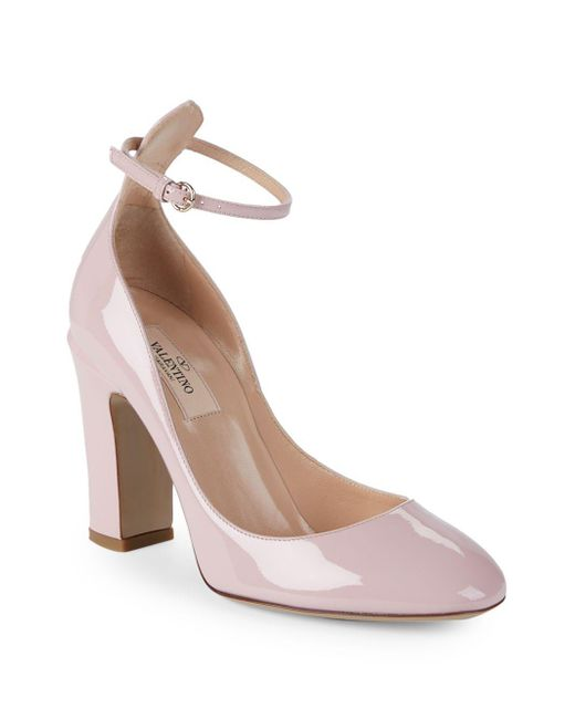 Valentino - Pink Tango Patent Leather Pumps - Lyst