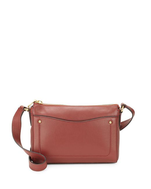 Cole Haan - Red Esme Leather Crossbody Bag - Lyst