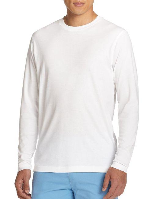 Saks Fifth Avenue - White Long-sleeved Tee for Men - Lyst