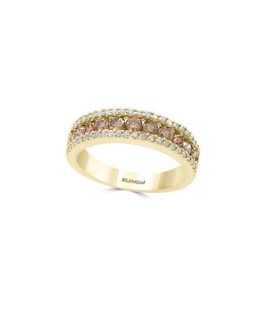 Effy - Metallic Final Call Diamond & 14k Yellow Gold Band Ring - Lyst