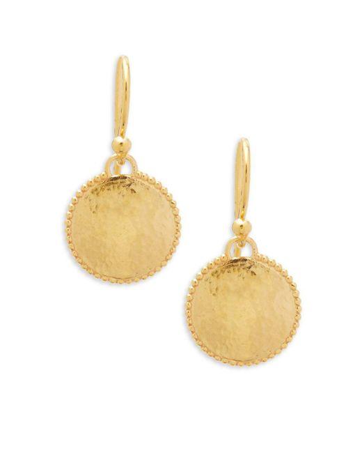 Gurhan - Metallic 22k Gold Drop Earrings - Lyst