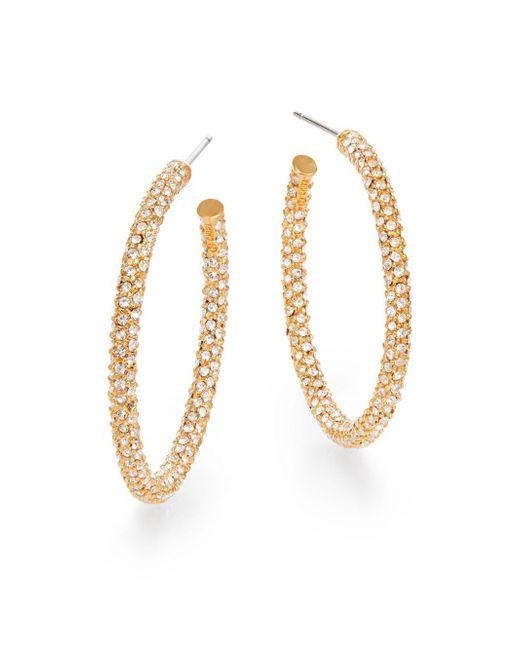 "Adriana Orsini - Metallic Pavà Hoop Earrings/1.25"" - Lyst"