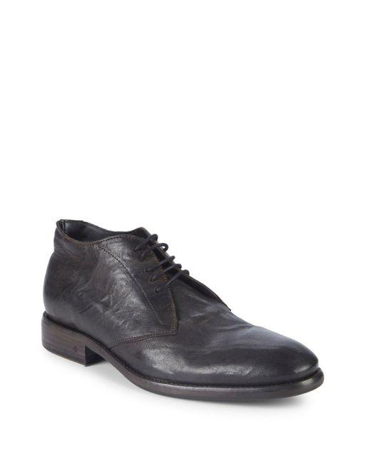 John Varvatos - Brown Sullivan Chukka Leather Boots for Men - Lyst