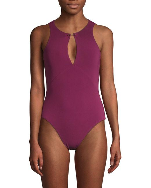 Robin Piccone - Purple Luca One-piece Swimsuit - Lyst