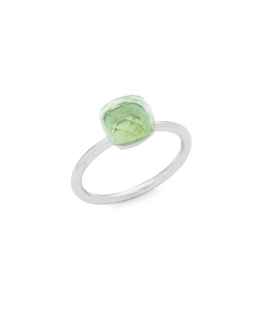Saks Fifth Avenue - Green 14k White Gold Amethyst Ring - Lyst