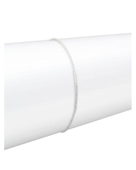 Danni - Diamond And 14k White Gold Thin Bar Single Strand Bracelet - Lyst