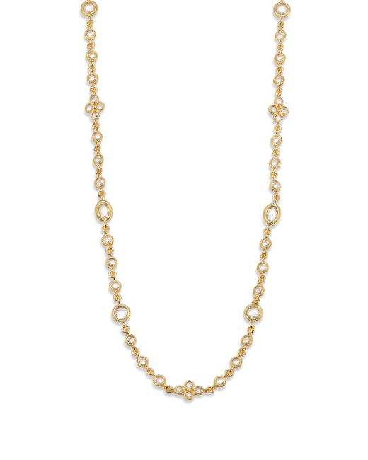 Adriana Orsini - Metallic Faceted Double-wrap Necklace - Lyst