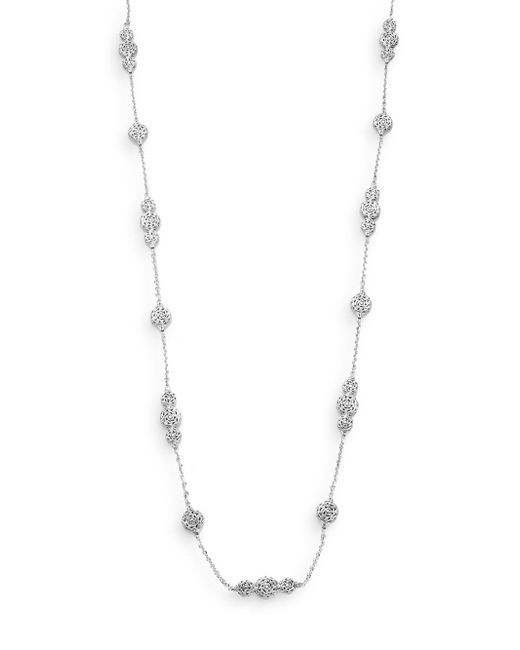 John Hardy - Metallic Classic Chain Sterling Silver Station Necklace - Lyst