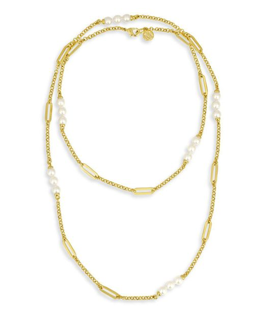 Majorica - Metallic Modern 6mm Organic Pearl Necklace - Lyst