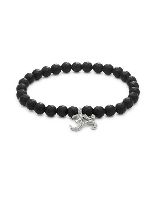 Bavna - Black Onyx Bead & Diamond Bracelet - Lyst