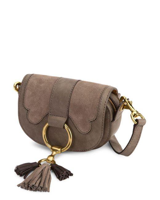 Frye - Gray Ilana Suede Mini Crossbody Bag - Lyst