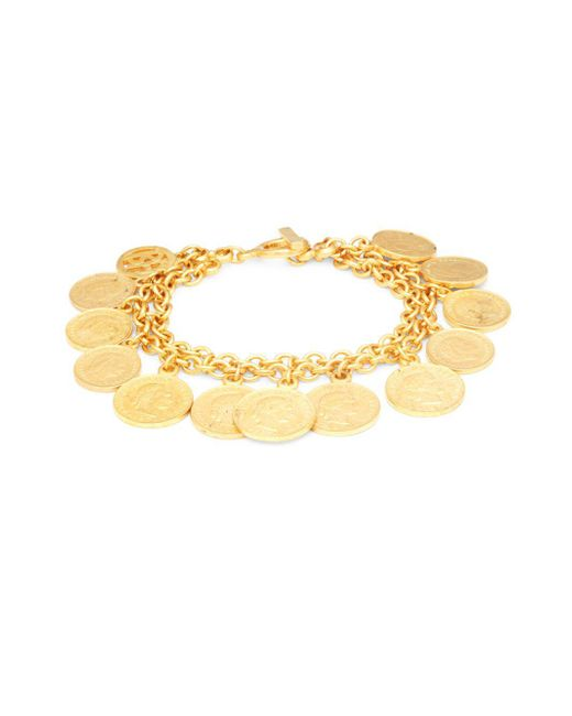 Ben-Amun | Metallic Goldtone Coin Charm Bracelet | Lyst