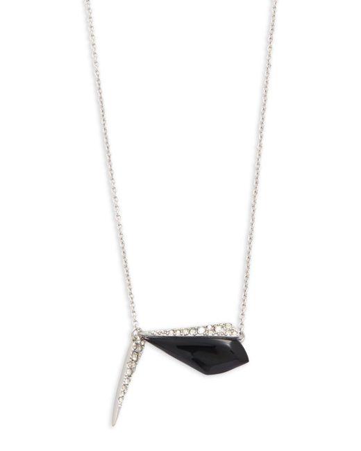 Alexis Bittar | Black Swarovski Crystal & Lucite Pendant Necklace | Lyst