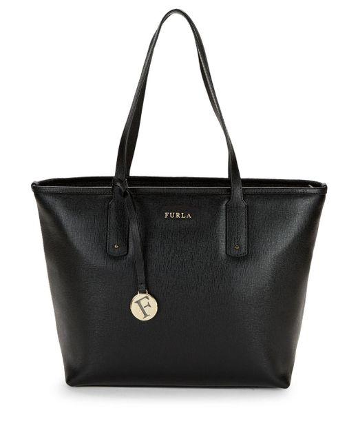ada7abb9ffc3 Furla - Black Leather Tote - Lyst ...