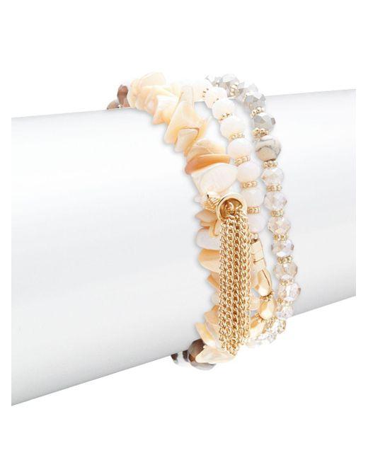 Noir Jewelry   Multicolor Layer Beaded Bracelet   Lyst