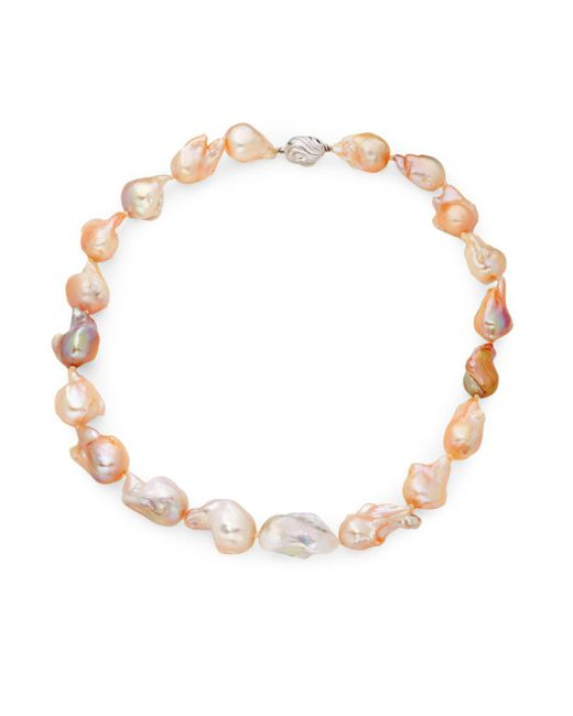 Tara Pearls - Metallic 11-13mm Multicolored Baroque Freshwater Pearl And Sterling Silver Necklace - Lyst