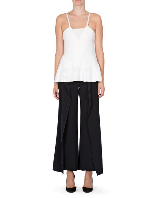 Roland Mouret - White Turing Sleeveless Top - Lyst