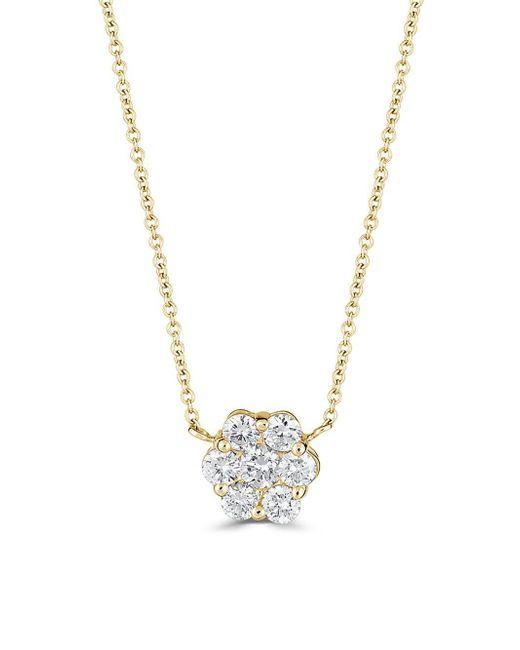 Saks Fifth Avenue - Metallic Diamond Fringe And 14k White Gold Flower Pendant Necklace - Lyst