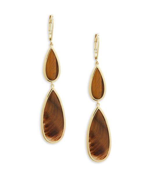 Saks Fifth Avenue - Multicolor Two-tone Drop Earrings - Lyst