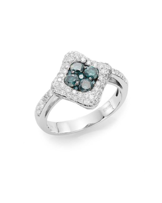 Effy   Blue Final Call 2.46 Tcw Diamond & 14k White Gold Ring   Lyst