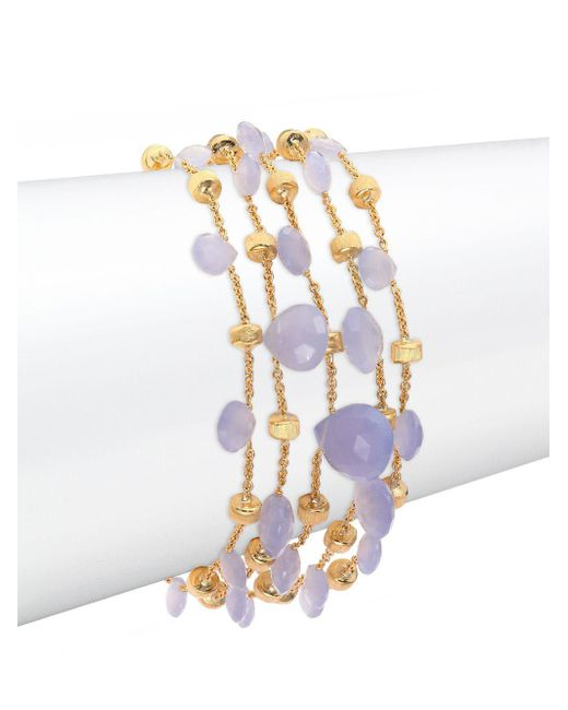 Marco Bicego - Purple Paradise Chalcedony & 18k Yellow Gold Five-strand Bracelet - Lyst