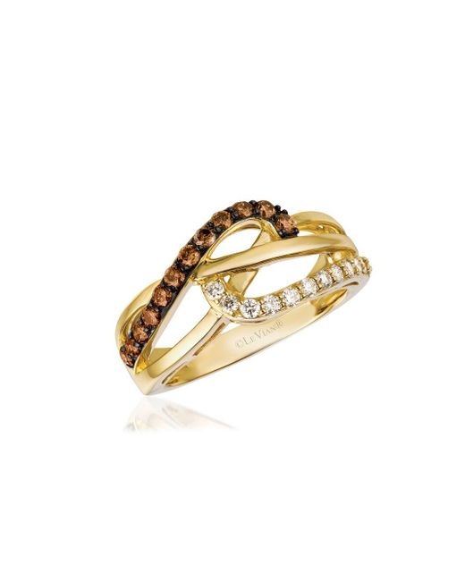 Le Vian - Metallic Chocolatier Honey Gold Vanilla & Chocolate Multi-band Ring - Lyst