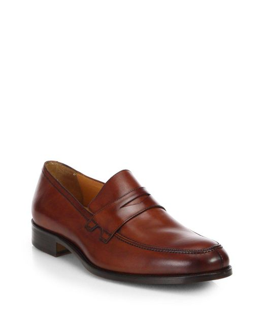 Saks Fifth Avenue - Brown Collection Penny Loafers for Men - Lyst