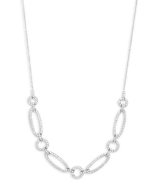 Adriana Orsini - Metallic Crystal Chain Necklace - Lyst