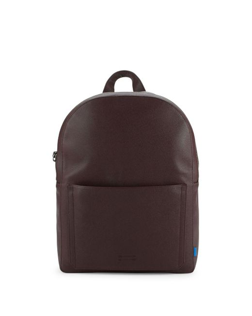 Uri Minkoff - Brown Top Zip Leather Backpack for Men - Lyst