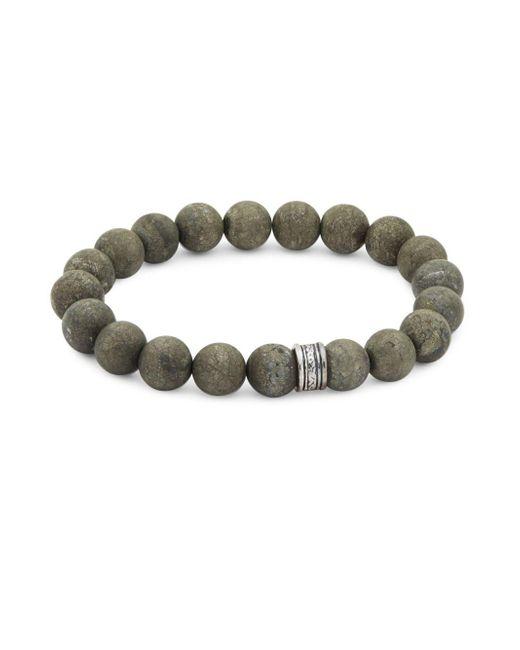 Saks Fifth Avenue - Metallic Matte Beaded Bracelet - Lyst