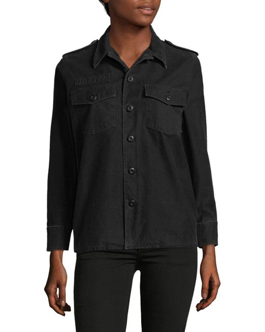 Equipment - Black Classic Cotton Jacket - Lyst