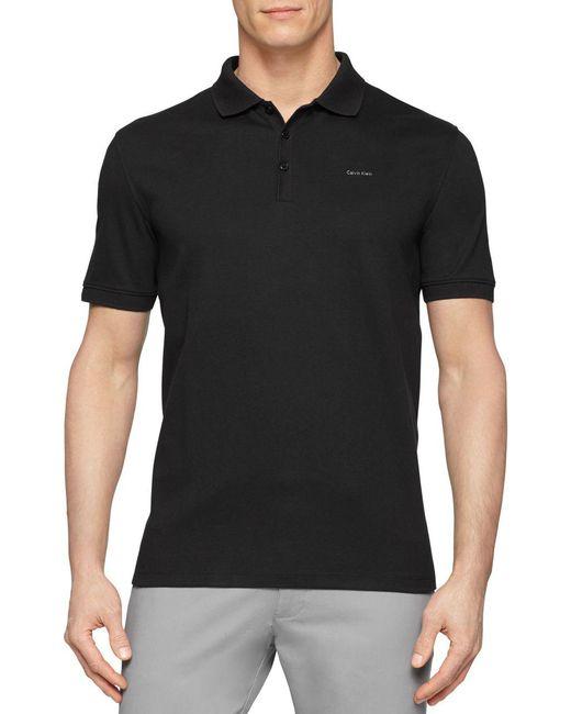 CALVIN KLEIN 205W39NYC - Black Cotton Polo Shirt for Men - Lyst