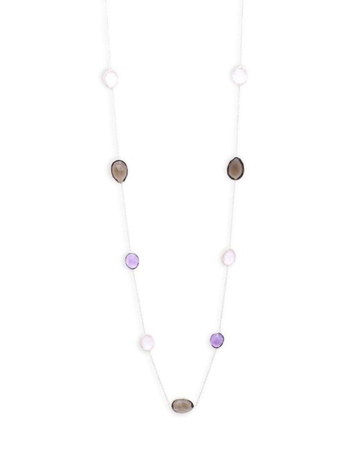 Saks Fifth Avenue - Metallic Tri-tone Quartz Single Strand Necklace - Lyst