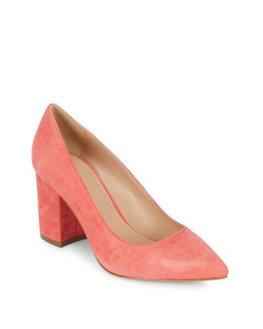 Pour La Victoire - Pink Val Leather Pumps - Lyst