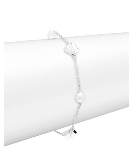 Majorica - Metallic Faux Pearl, Crystal And Sterling Silver Bracelet - Lyst