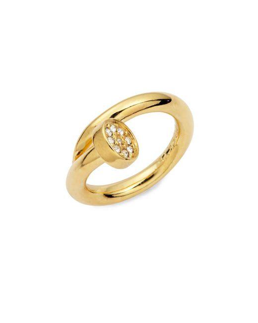 CC SKYE   Metallic Shelby Crystal-encrusted Nail Ring   Lyst