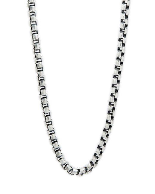 "Perepaix - Metallic Box Chain Stainless Steel Necklace/20"" - Lyst"