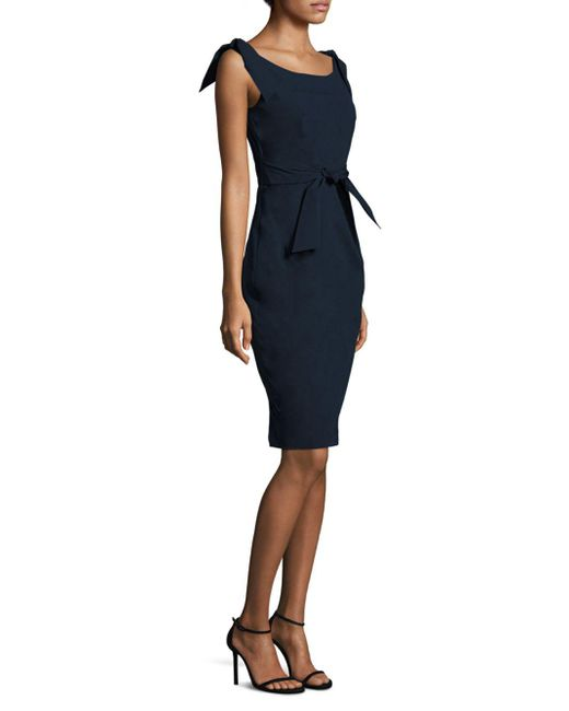 MILLY - Blue Candice Tie Dress - Lyst