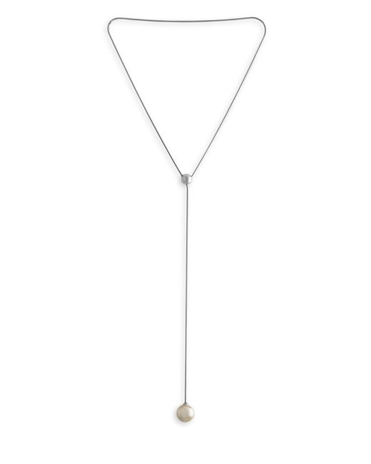 Majorica - 16mm White Organic Pearl Y-necklace - Lyst