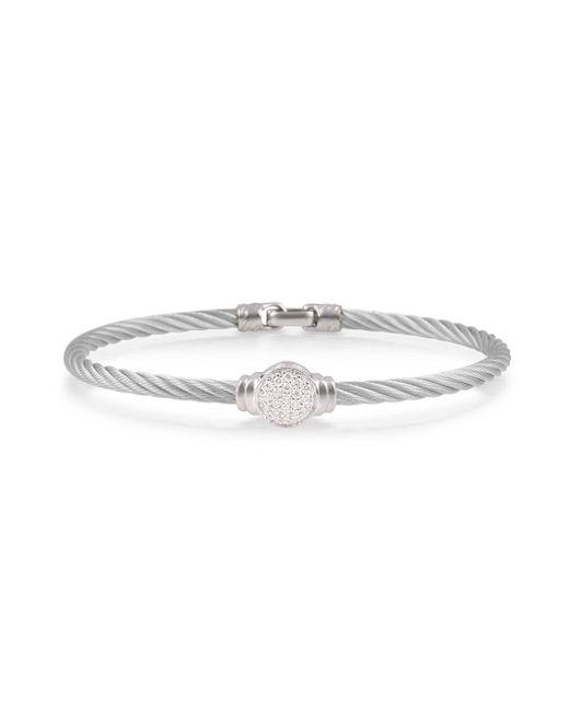 Alor - Metallic Pavé Round Diamond Cable Bracelet - Lyst