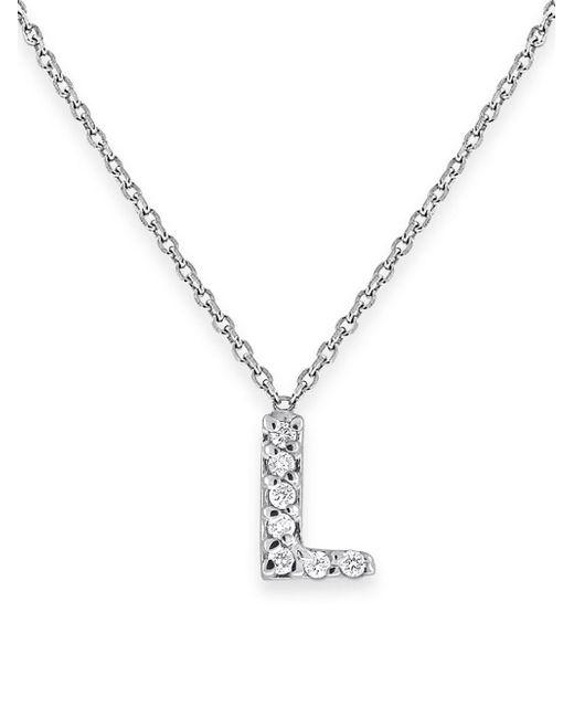 KC Designs - Metallic Diamond Initials 14k White Gold Pendant Necklace - Lyst