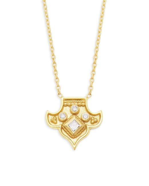 Amrapali - Metallic Heritage 18k Yellow Gold & Diamond Fleur Pendant Necklace - Lyst