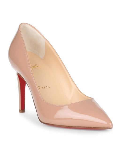 Christian Louboutin - Natural Pigalle Patent-leather Pumps - Lyst